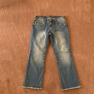 Old Navy cropped boot jeans sz 4